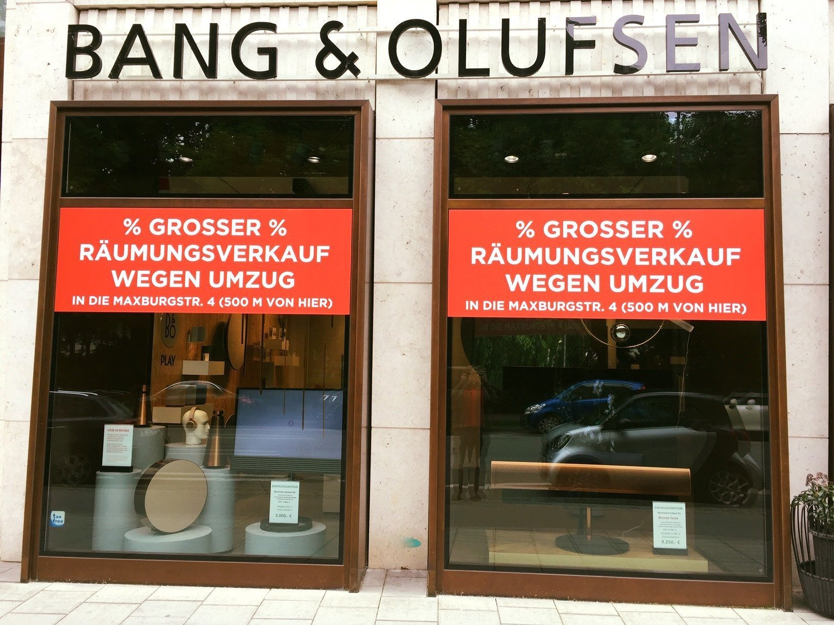 Unser Bang & Olufsen Store am Maximiliansplatz zieht um
