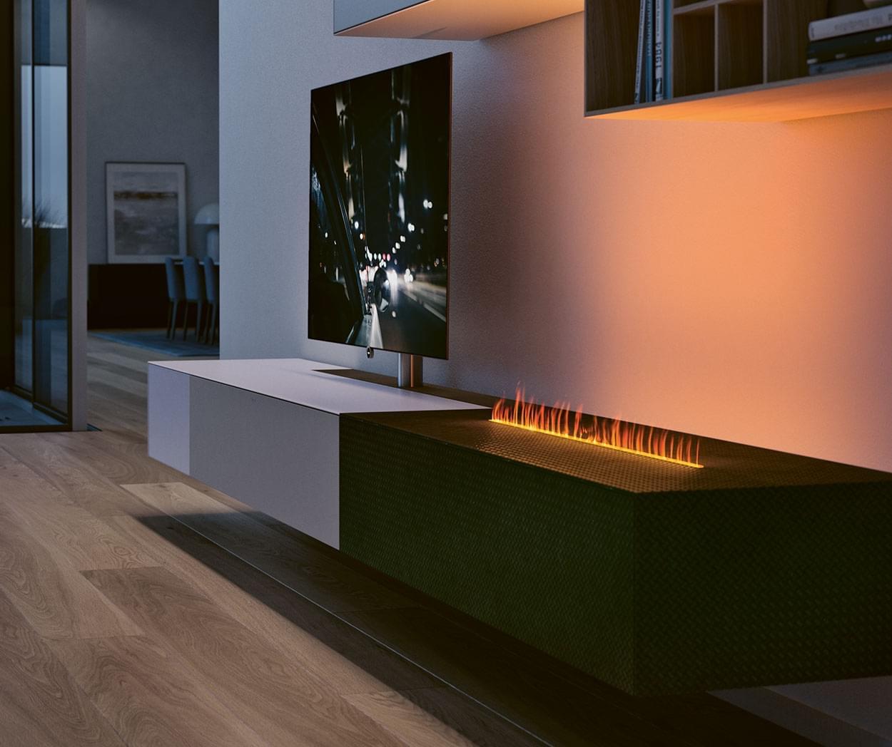 Spectral ameno smart flame bei uns in den Reisenberger Galerien.  Feuer braucht…