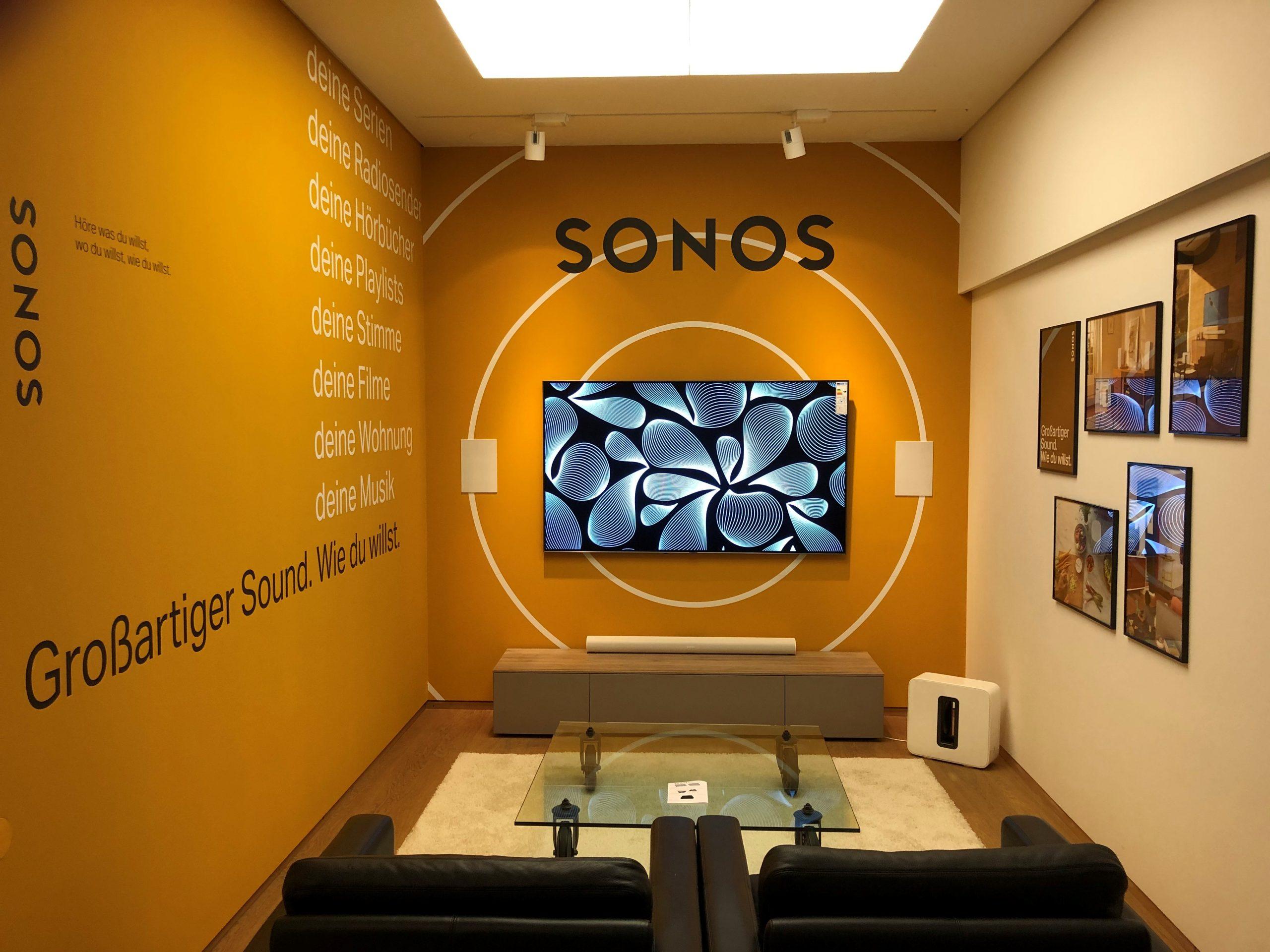 Das Neue SONOS Hörstudio! Exklusiv in den Reisenberger Galerien München.
